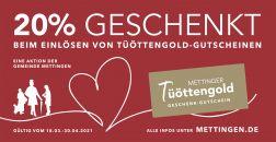 Tüöttengold-Gutscheine bei Bendick in Mettingen einlösen
