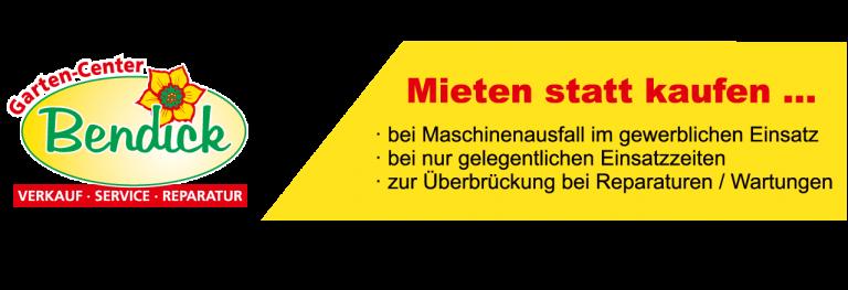 Mietgeräte bei Bendick in Mettingen